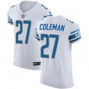 Wholesale Cheap Nike Lions #27 Justin Coleman White Men's Stitched NFL Vapor Untouchable Elite Jersey