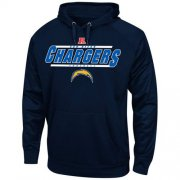 Wholesale Cheap Los Angeles Chargers Majestic Synthetic Hoodie Sweatshirt Navy Blue