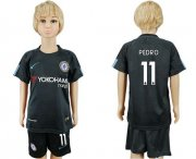 Wholesale Cheap Chelsea #11 Pedro Sec Away Kid Soccer Club Jersey