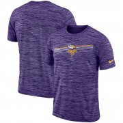 Wholesale Cheap Minnesota Vikings Nike Sideline Velocity Performance T-Shirt Heathered Purple