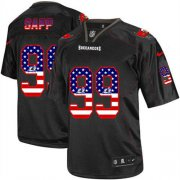 Wholesale Cheap Nike Buccaneers #99 Warren Sapp Black Men's Stitched NFL Elite USA Flag Fashion Jersey