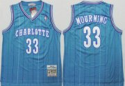 Wholesale Cheap Charlotte Hornets #33 Alonzo Mourning Green Swingman Throwback Jersey