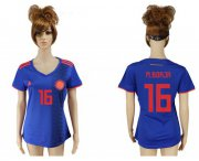 Wholesale Cheap Women's Colombia #16 M.Borja Away Soccer Country Jersey