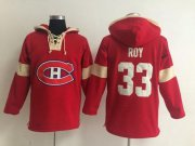 Wholesale Cheap Montreal Canadiens #33 Patrick Roy Red Pullover NHL Hoodie