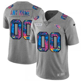 Wholesale Cheap Tennessee Titans Custom Men\'s Nike Multi-Color 2020 NFL Crucial Catch Vapor Untouchable Limited Jersey Greyheather