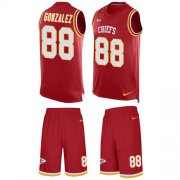 Wholesale Cheap Nike Chiefs #88 Tony Gonzalez Red Team Color Men's Stitched NFL Limited Tank Top Suit Jersey