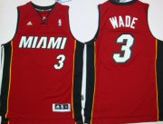 Wholesale Cheap Miami Heat #3 Dwyane Wade Revolution 30 Swingman Red Jersey