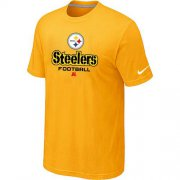 Wholesale Cheap Nike Pittsburgh Steelers Big & Tall Critical Victory NFL T-Shirt Yellow