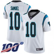 Wholesale Cheap Nike Panthers #10 Curtis Samuel White Men's Stitched NFL 100th Season Vapor Limited Jersey