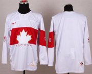 Wholesale Cheap Olympic 2014 CA. Blank White Stitched NHL Jersey