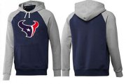 Wholesale Cheap Houston Texans Logo Pullover Hoodie Dark Blue & Grey