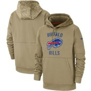 Wholesale Cheap Men's Buffalo Bills Nike Tan 2019 Salute to Service Sideline Therma Pullover Hoodie