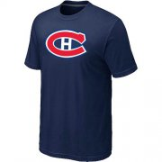 Wholesale Cheap Montreal Canadiens Big & Tall Logo Midnight Blue NHL T-Shirt