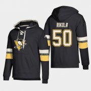 Wholesale Cheap Pittsburgh Penguins #50 Juuso Riikola Black adidas Lace-Up Pullover Hoodie