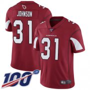 Wholesale Cheap Nike Cardinals #31 David Johnson Red Team Color Men's Stitched NFL 100th Season Vapor Limited Jersey