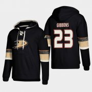 Wholesale Cheap Anaheim Ducks #23 Brian Gibbons Black adidas Lace-Up Pullover Hoodie