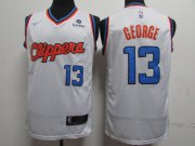 Wholesale Cheap Clippers 13 Paul George White City Edition Nike Swingman Jersey