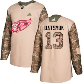 Wholesale Cheap Adidas Red Wings #13 Pavel Datsyuk Camo Authentic 2017 Veterans Day Stitched Youth NHL Jersey