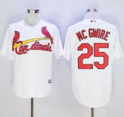 Wholesale Cheap Cardinals #25 Mark McGwire White New Cool Base Stitched MLB Jersey