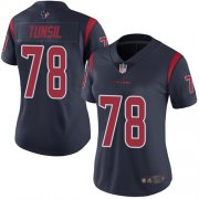 Wholesale Cheap Nike Texans #78 Laremy Tunsil Navy Blue Women's Stitched NFL Limited Rush Jersey