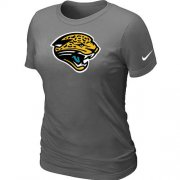 Wholesale Cheap Women's Nike Jacksonville Jaguars Logo NFL T-Shirt Dark Grey