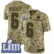 Wholesale Cheap Nike Rams #6 Johnny Hekker Camo Super Bowl LIII Bound Youth Stitched NFL Limited 2018 Salute to Service Jersey