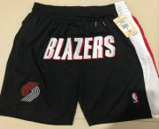 Wholesale Cheap Men's Portland Trail Blazers Black Just Don Shorts Swingman Shorts