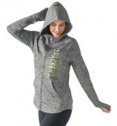 Wholesale Cheap Women's NFL Green Bay Packers G-III 4Her by Carl Banks Recovery Full-Zip Hoodie Heathered Gray