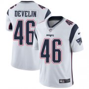 Wholesale Cheap Nike Patriots #46 James Develin White Youth Stitched NFL Vapor Untouchable Limited Jersey