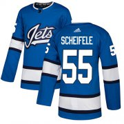 Wholesale Cheap Adidas Jets #55 Mark Scheifele Blue Alternate Authentic Stitched Youth NHL Jersey