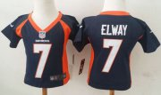 Wholesale Cheap Toddler Nike Broncos #7 John Elway Navy Blue Alternate Stitched NFL Elite Jersey