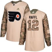 Wholesale Cheap Adidas Flyers #12 Michael Raffl Camo Authentic 2017 Veterans Day Stitched NHL Jersey