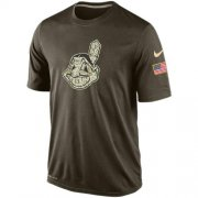 Wholesale Cheap Men's Cleveland Indians Salute To Service Nike Dri-FIT T-Shirt