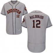 Wholesale Cheap Astros #12 Martin Maldonado Grey Flexbase Authentic Collection Stitched MLB Jersey