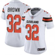 Wholesale Cheap Nike Browns #32 Jim Brown White Women's Stitched NFL Vapor Untouchable Limited Jersey