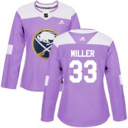 Wholesale Cheap Adidas Sabres #33 Colin Miller Purple Authentic Fights Cancer Women's Stitched NHL Jersey