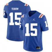 Wholesale Cheap Florida Gators 15 Tim Tebow Blue Throwback College Football Jersey