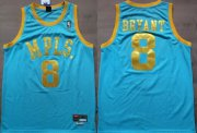 Wholesale Cheap Los Angeles Lakers #8 Kobe Bryant MPLS Blue Swingman Throwback Jersey