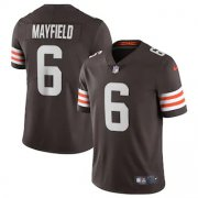 Wholesale Nike Browns #13 Odell Beckham Jr Brown Team Color Men's Stitched NFL Limited Therma Long Sleeve Jersey