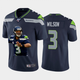 Cheap Seattle Seahawks #3 Russell Wilson Nike Team Hero 1 Vapor Limited NFL 100 Jersey Navy