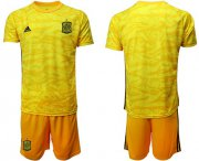 Wholesale Cheap Spain Blank Yellow Goalkeeper Soccer Country Jersey