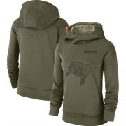 Wholesale Cheap Women's Tampa Bay Buccaneers Nike Olive Salute to Service Sideline Therma Performance Pullover Hoodie