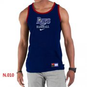 Wholesale Cheap Men's Nike Tampa Bay Rays Home Practice Tank Top Dark Blue