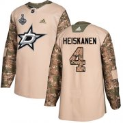 Cheap Adidas Stars #4 Miro Heiskanen Camo Authentic 2017 Veterans Day Youth 2020 Stanley Cup Final Stitched NHL Jersey