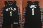 Wholesale Cheap NBA Brooklyn Nets #1 Dangelo Russell Jersey 2018-19 New Season City Edition Jersey