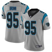 Wholesale Cheap Nike Panthers #95 Derrick Brown Silver Men's Stitched NFL Limited Inverted Legend Jersey