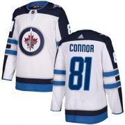 Wholesale Cheap Adidas Jets #81 Kyle Connor White Road Authentic Stitched NHL Jersey