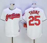 Wholesale Cheap Indians #25 Jim Thome White Cool Base Stitched MLB Jersey