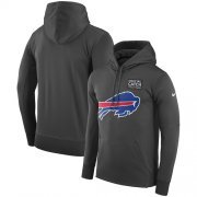 Wholesale Cheap NFL Men's Buffalo Bills Nike Anthracite Crucial Catch Performance Pullover Hoodie