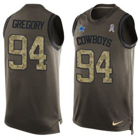 Wholesale Cheap Nike Cowboys #94 Randy Gregory Green Men\'s Stitched NFL Limited Salute To Service Tank Top Jersey